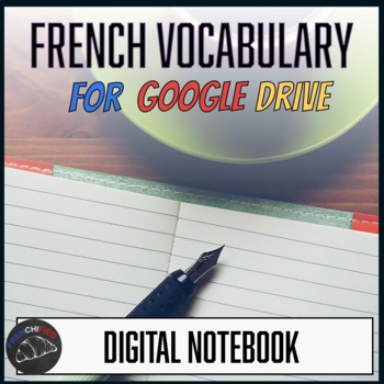 Interactive notebook - French Vocabulary - Google drive edition
