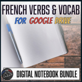 Interactive notebook - French vocabulary & verbs for Google Drive