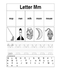 Interactive notebook Letter Mm