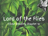 Interactive notebook-Lord of the Flies Chapter 10 Close Reading