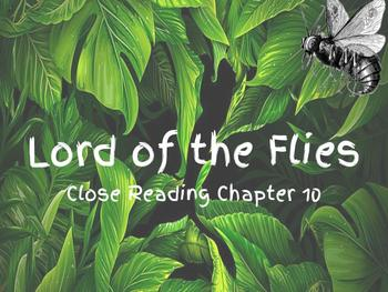 Interactive notebook-Lord of the Flies Chapter 11 Close Reading