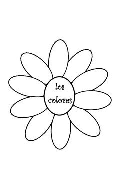 Interactive notebook Spanish colors