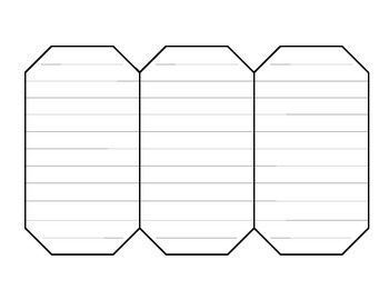 Interactive notebook fold-able octagon