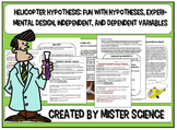 Interactive notebook independent dependent variables helic