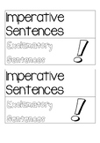 Interactive notebook kinds of sentences Imperative and Exc