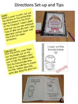 Interactive notebook letter a