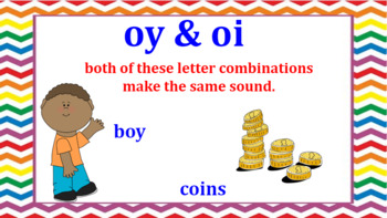 Interactive oi and oy Word Work Activites