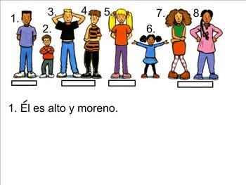 Interactive speaking, reading, Writing Adjectivos y Acerca de Mi SMART Lesson