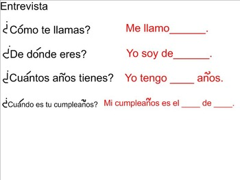 Interactive speaking, reading, Writing Adjectivos y Acerca de Mi SMART Lesson