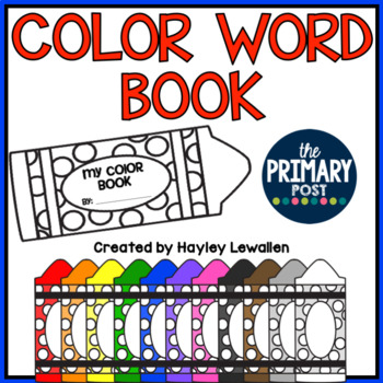 Color Words Emergent Reader {Interactive!}