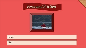 Interactives Force and Friction Digital Journal