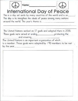 Interanational Day of Peace
