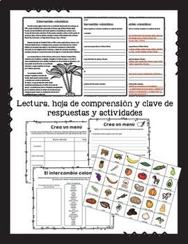 Intercambio colombino / Colombian Exchange in Spanish