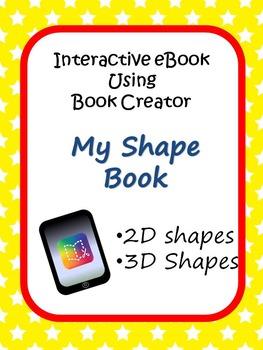 2D and 3D Shapes iPad Project using Book Creator App