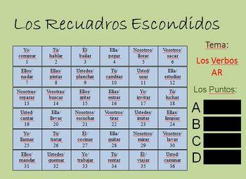 "Intercative Spanish ""AR"" Verb Activity (Powerpoint)"