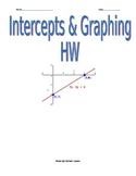 Intercepts & Graphing Homework