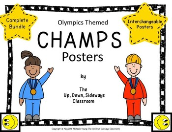 Olympics and Referee Themed Interchangeable Champs Posters