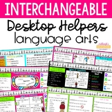 Interchangeable Desktop Helpers - Language Arts