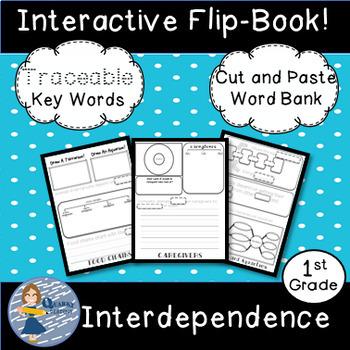 Interdependence Bundle: Flip Book and Pocket Chart Sentence Builders