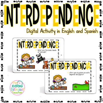Interdependence Digital Activity in English and Spanish