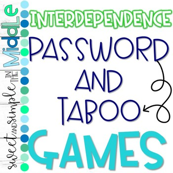 Interdependence Password and Taboo Review Games