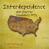 Interdependence Unit Starter TN Read to Be Ready Aligned Presentations