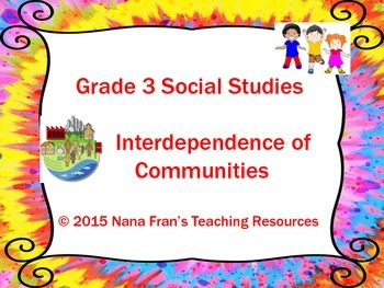 Interdependence of Communities - Grade 3 Social Studies