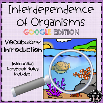 Interdependence of Organisms Vocabulary Activity for Google Classroom