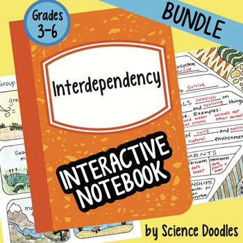 Interdependency Interactive Notebook BUNDLE by Science Doodles