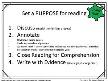 Interdisciplinary Reading PURPOSE mini-posters
