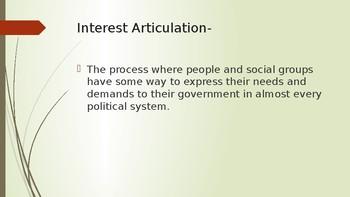 Interest Articulation PPT
