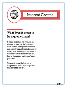 AP Government - Interest Group (3 student centered activities)