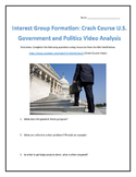 Interest Group Formation: Crash Course U.S. Government and Politics Analysis