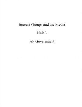 Interest Group Unit Resource Packet
