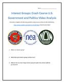 Interest Groups: Crash Course U.S. Government and Politics Video Analysis