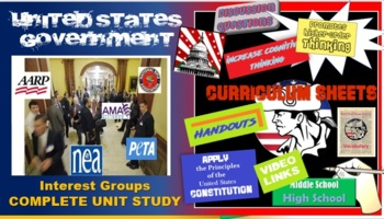AP Government - Interest Groups Flipped Classroom -The Complete Unit