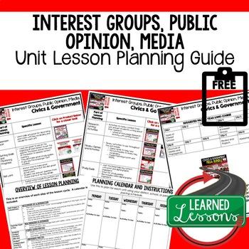 Interest Groups, Public Opinion Lesson Plan Guide Civics Government