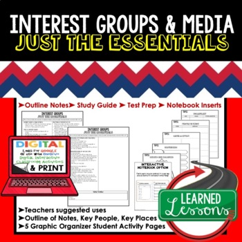 Interest Groups, Public Opinion Outline Notes JUST THE ESSENTIALS Unit Review