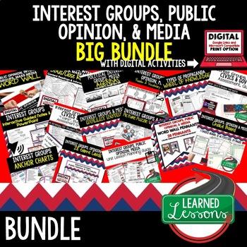 Interest Groups, Public Opinion, & Media Bundle (Civics and Government BUNDLE)