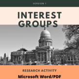 Interest Groups Research Activity