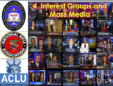 Interest Groups and Mass Media (AP Government) Bundle with Video