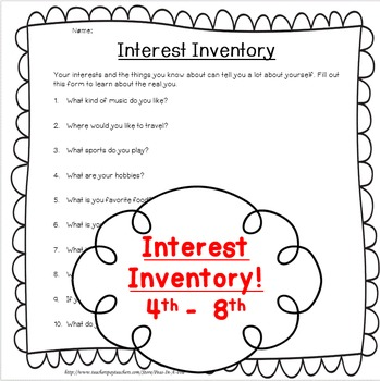 Interest Inventory!