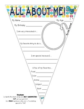 Interest Inventory & All About Me Pennant