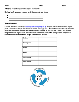 Interest Inventory - Career Exploration