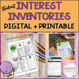 Student Interest Inventory Set Classroom Reward Menus for