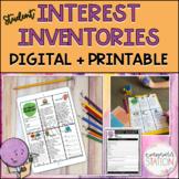 Student Interest Inventory Set - Classroom Reward Menus fo