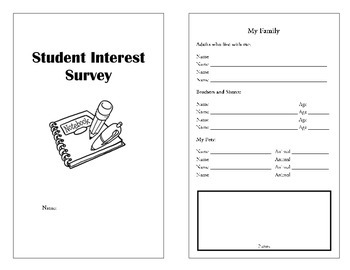 Interest Inventory Mini Book