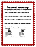 Interest Inventory and Student Learning Profile