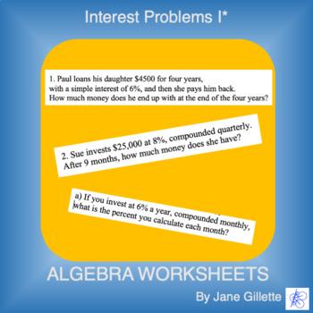 Interest Problems I*