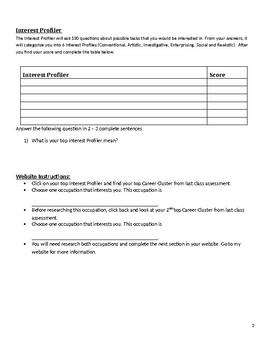 Interest Profiler Handout - Career Cruising